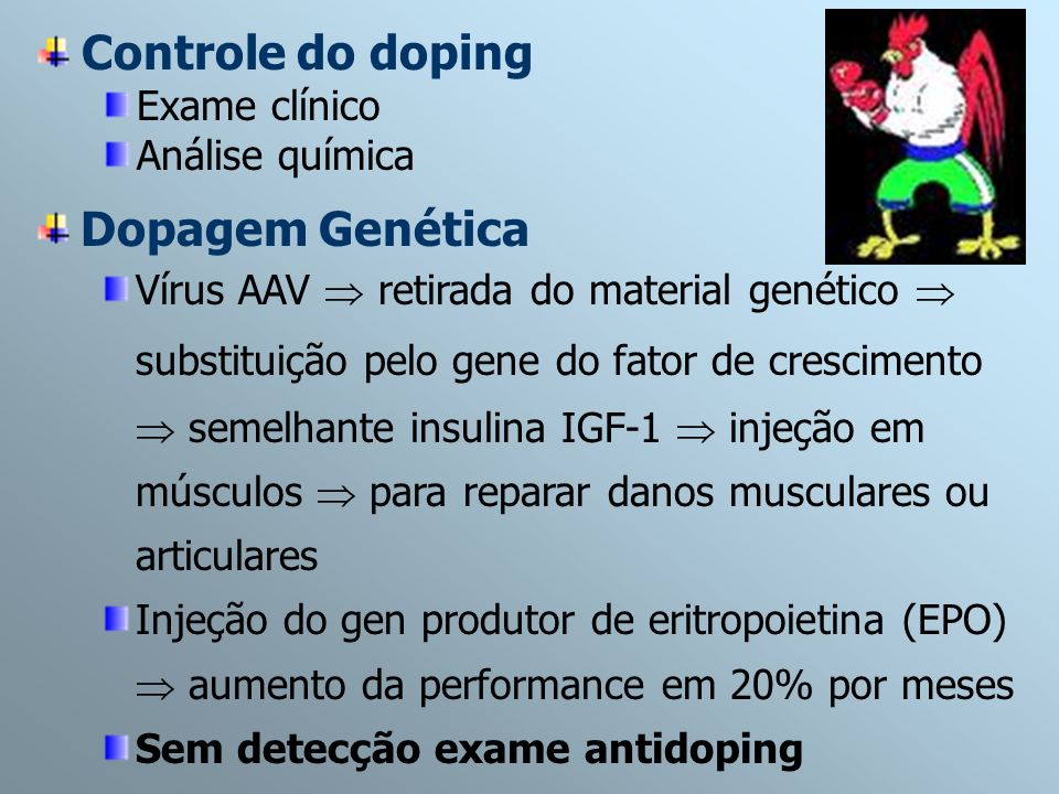 Controle do doping Dopagem Genética Exame clínico Análise química