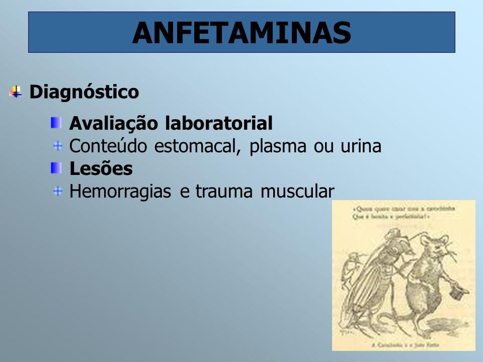 ANFETAMINAS Diagnóstico Avaliação laboratorial