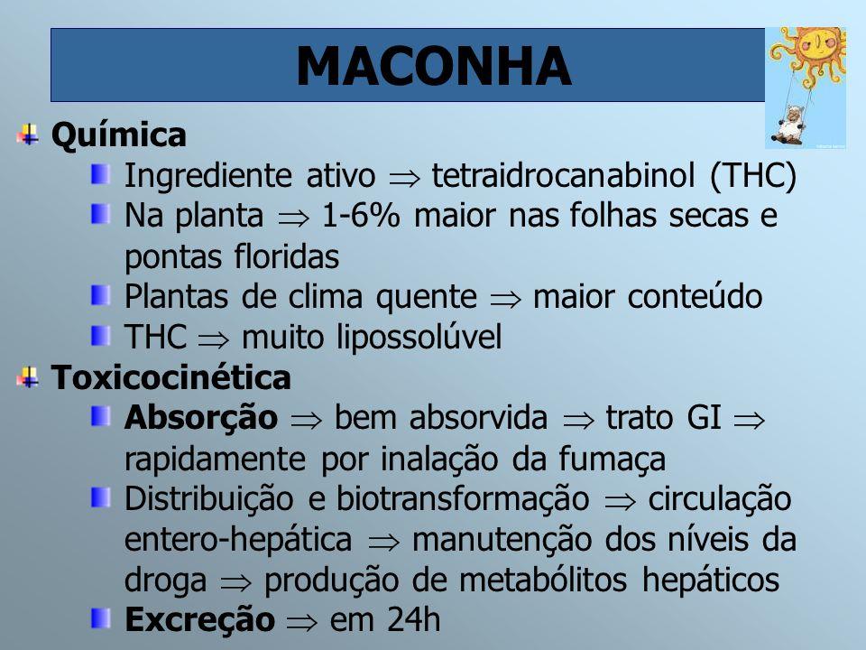 MACONHA Química Ingrediente ativo  tetraidrocanabinol (THC)