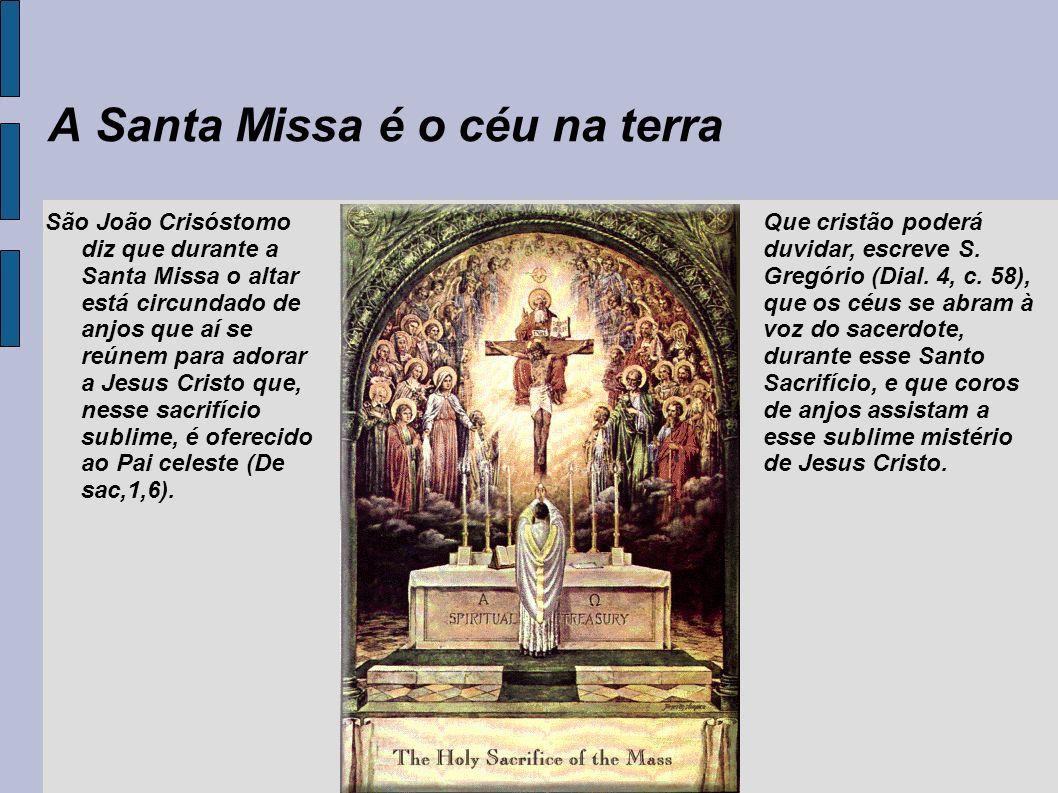 A Santa Missa é o céu na terra