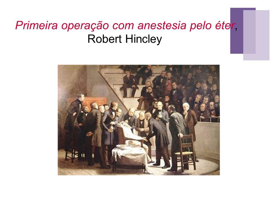 Primeira operação com anestesia pelo éter, Robert Hincley