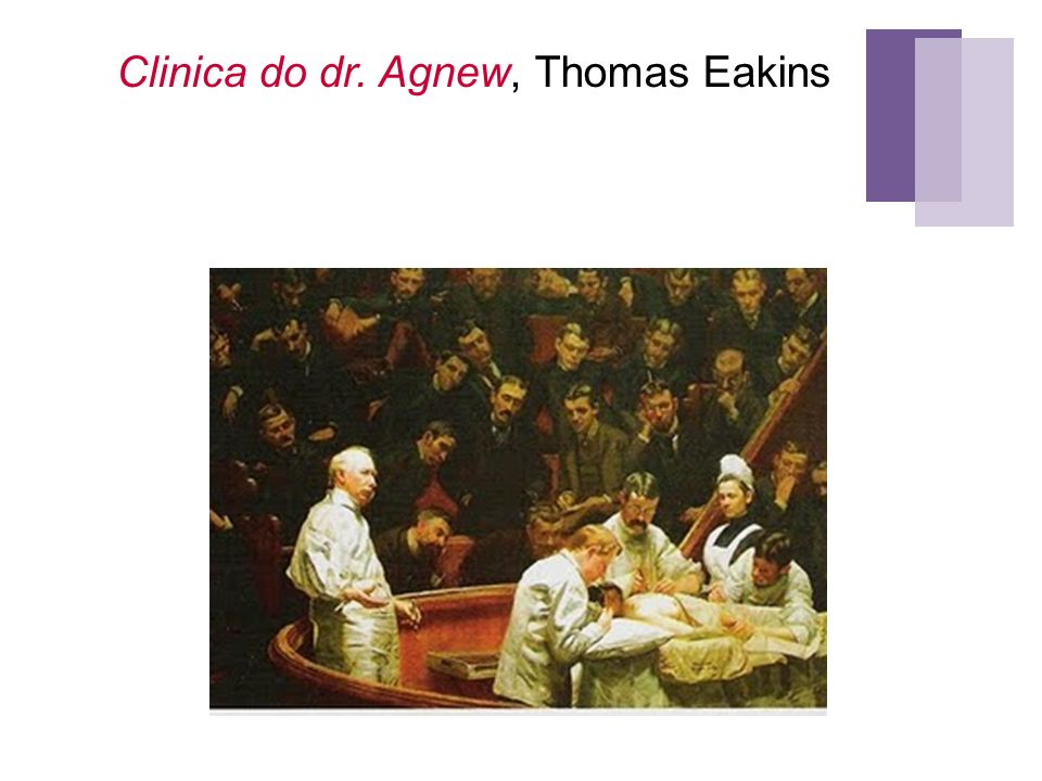 Clinica do dr. Agnew, Thomas Eakins