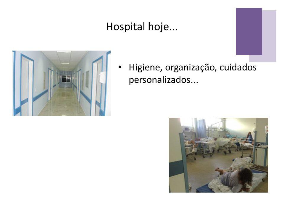 Hospital hoje... Higiene, organização, cuidados personalizados...