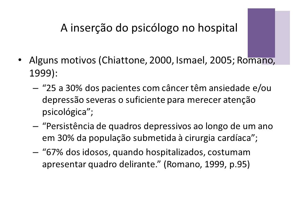 A inserção do psicólogo no hospital