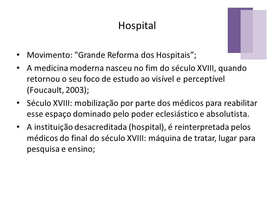 Hospital Movimento: Grande Reforma dos Hospitais ;