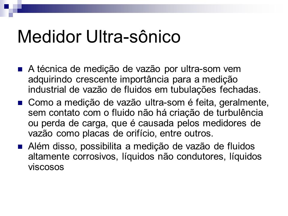 Medidor Ultra-sônico