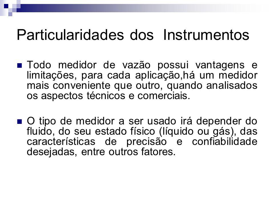 Particularidades dos Instrumentos