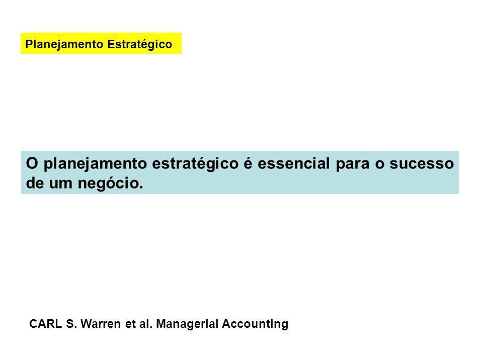 O planejamento estratégico é essencial para o sucesso de um negócio.