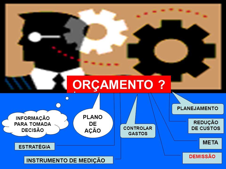 ORÇAMENTO PLANO DE AÇÃO META INSTRUMENTO DE MEDIÇÃO PLANEJAMENTO