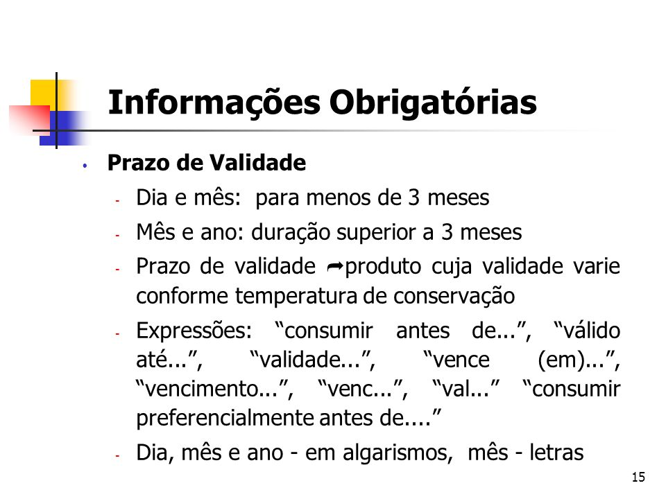 Informações Obrigatórias