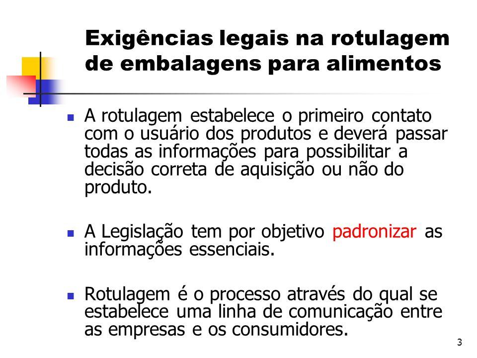 Exigências legais na rotulagem de embalagens para alimentos