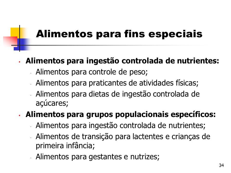 Alimentos para fins especiais