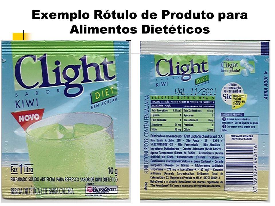 Exemplo Rótulo de Produto para Alimentos Dietéticos