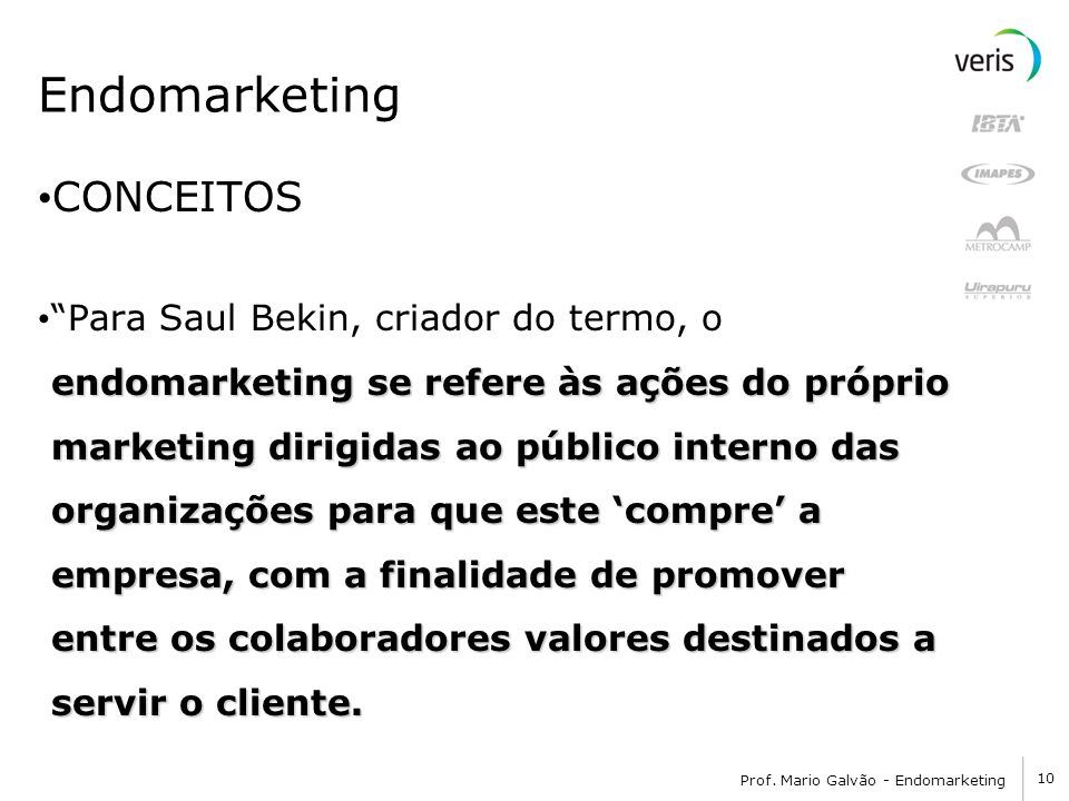 Endomarketing CONCEITOS