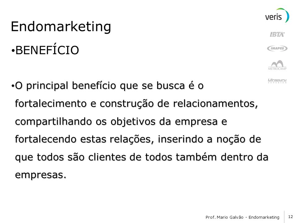 Endomarketing BENEFÍCIO