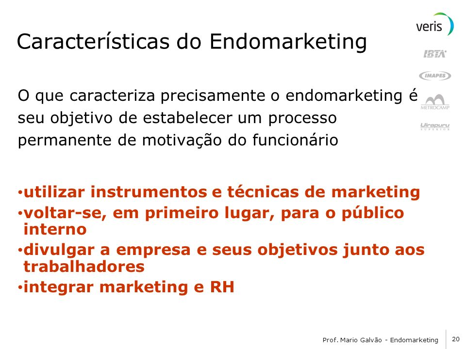 Características do Endomarketing