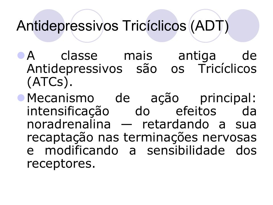 Antidepressivos Tricíclicos (ADT)