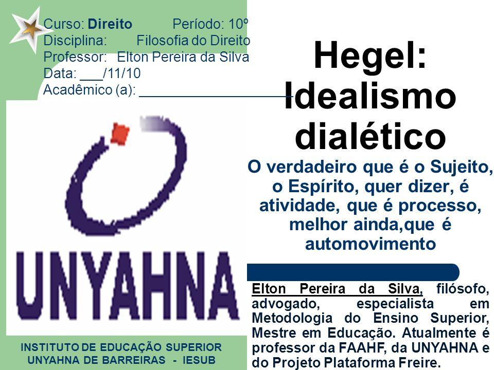 INSTITUTO DE EDUCAÇÃO SUPERIOR UNYAHNA DE BARREIRAS - IESUB