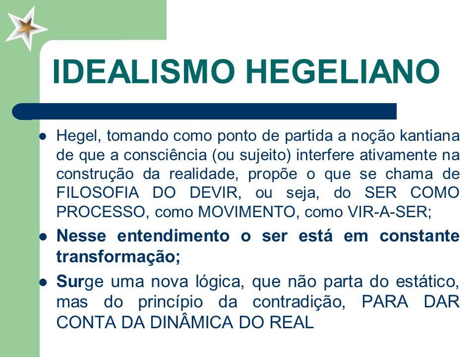IDEALISMO HEGELIANO