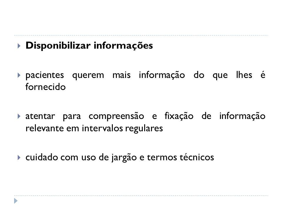 Disponibilizar informações