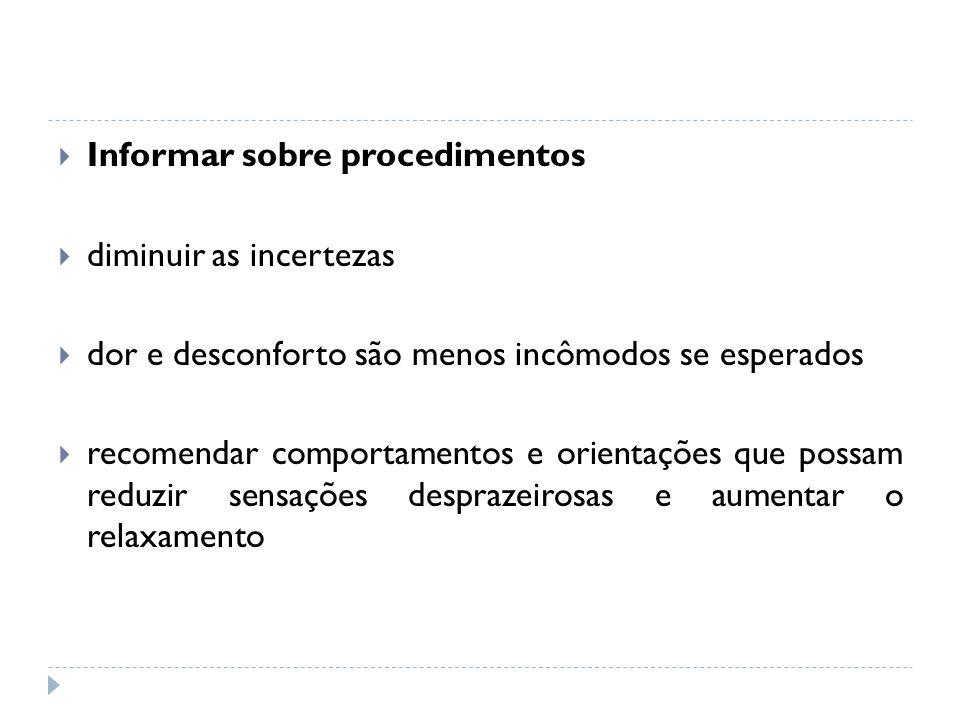 Informar sobre procedimentos