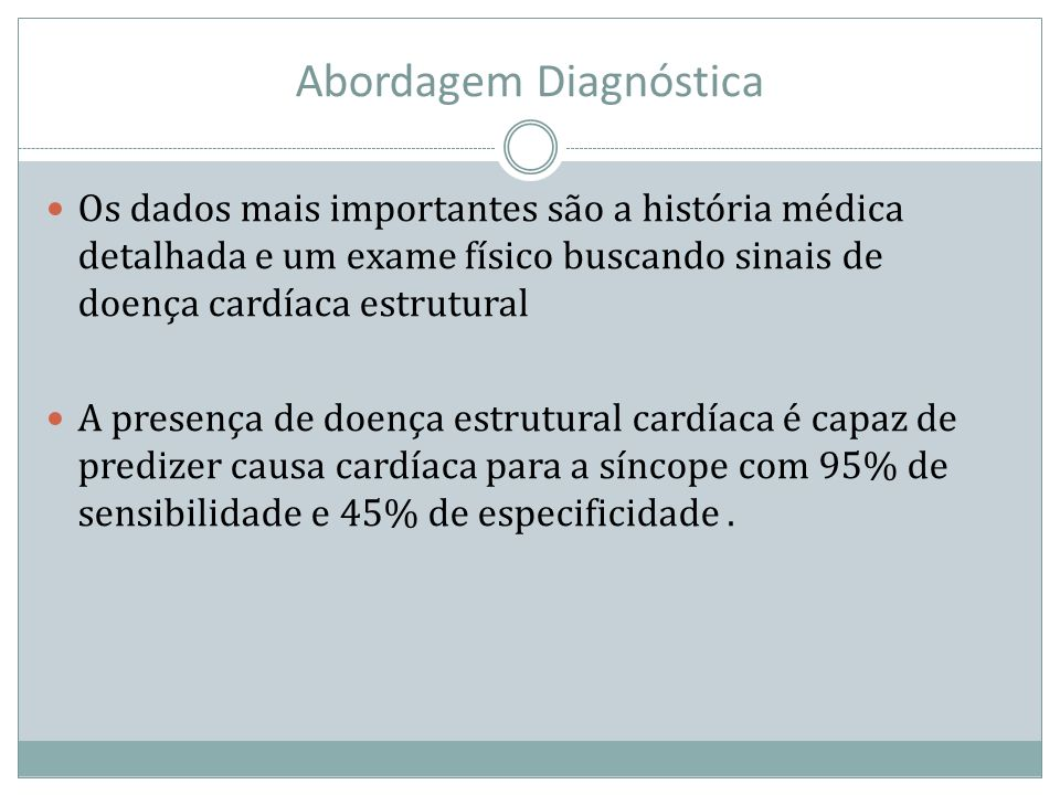 Abordagem Diagnóstica