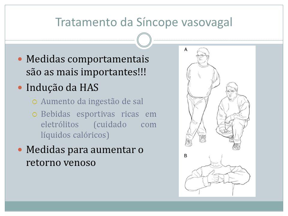 Tratamento da Síncope vasovagal