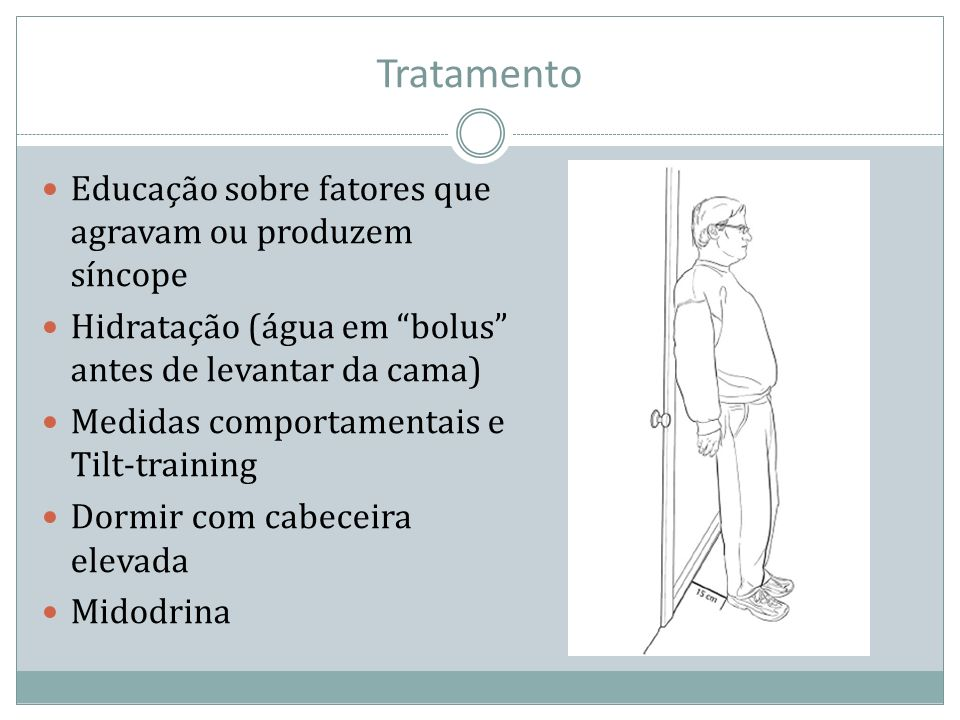 Tratamento Educação sobre fatores que agravam ou produzem síncope