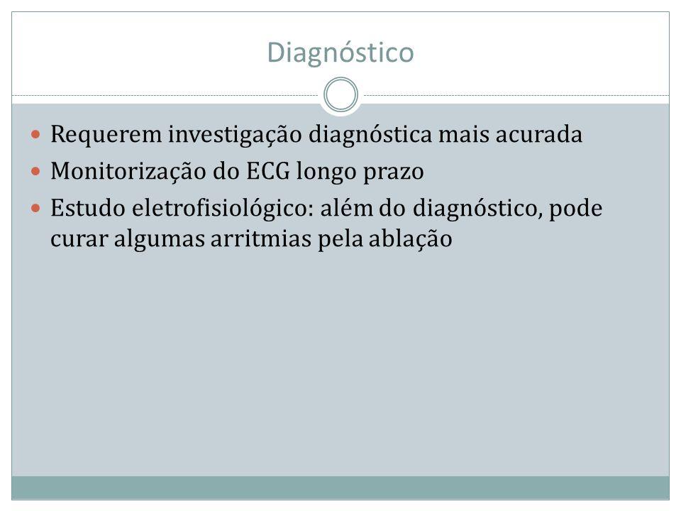 Diagnóstico Requerem investigação diagnóstica mais acurada