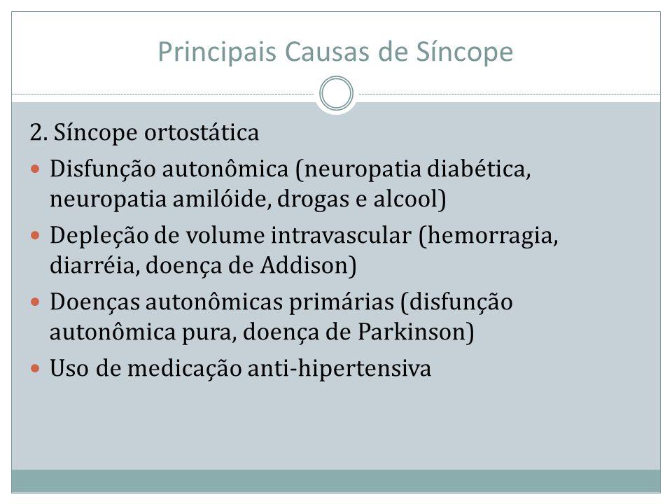 Principais Causas de Síncope