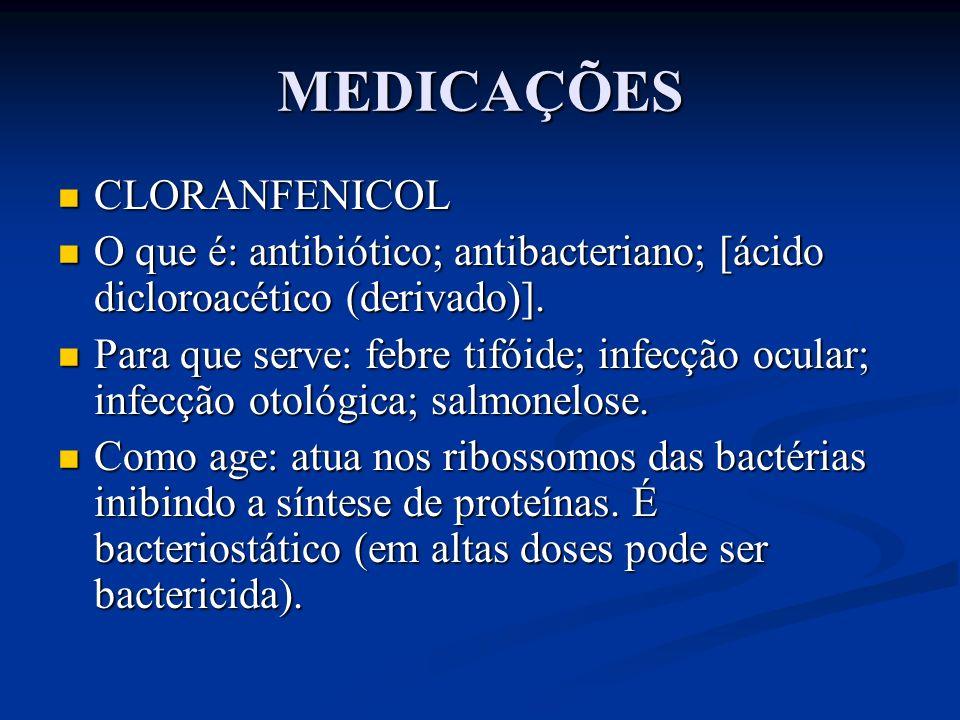 MEDICAÇÕES CLORANFENICOL