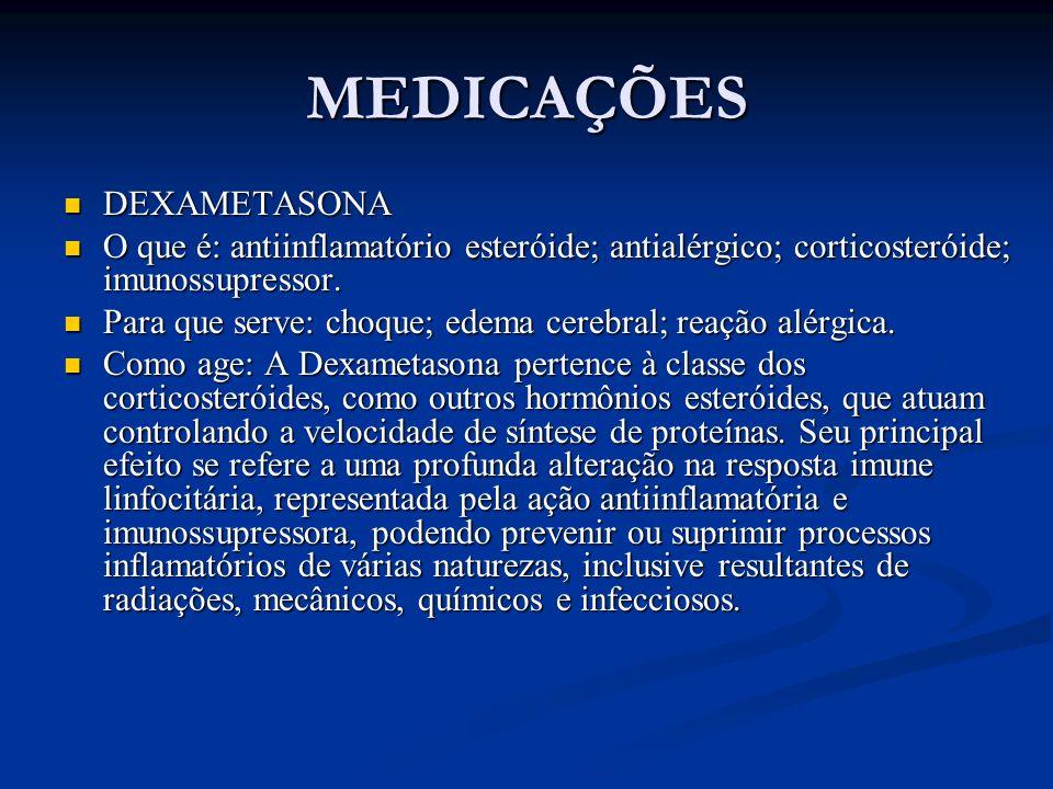 MEDICAÇÕES DEXAMETASONA
