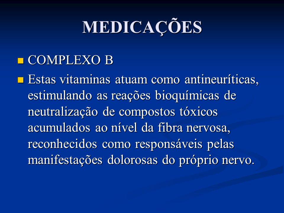 MEDICAÇÕES COMPLEXO B.