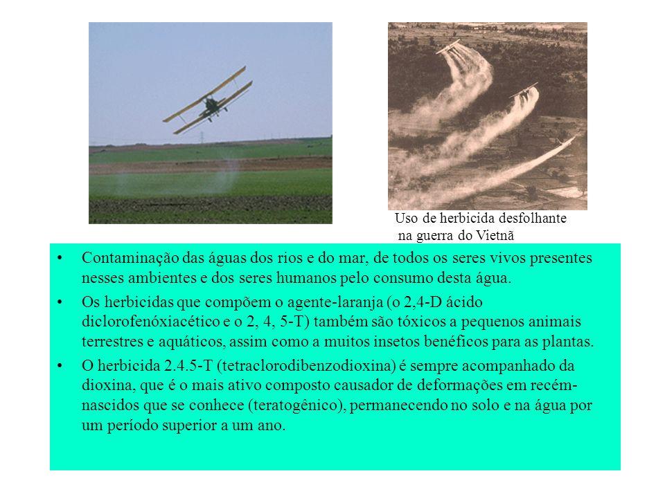 Uso de herbicida desfolhante