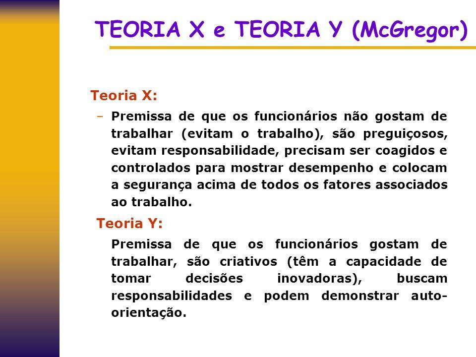 TEORIA X e TEORIA Y (McGregor)