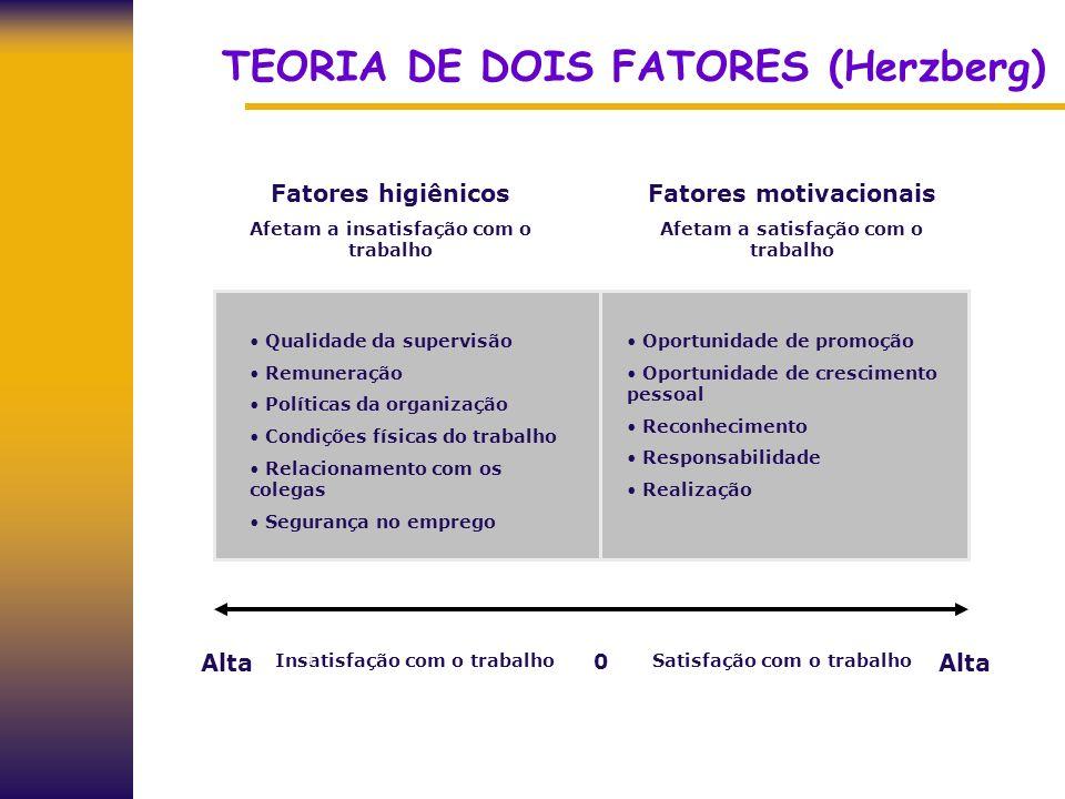 TEORIA DE DOIS FATORES (Herzberg)