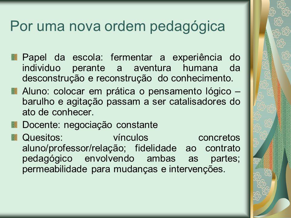 Por uma nova ordem pedagógica