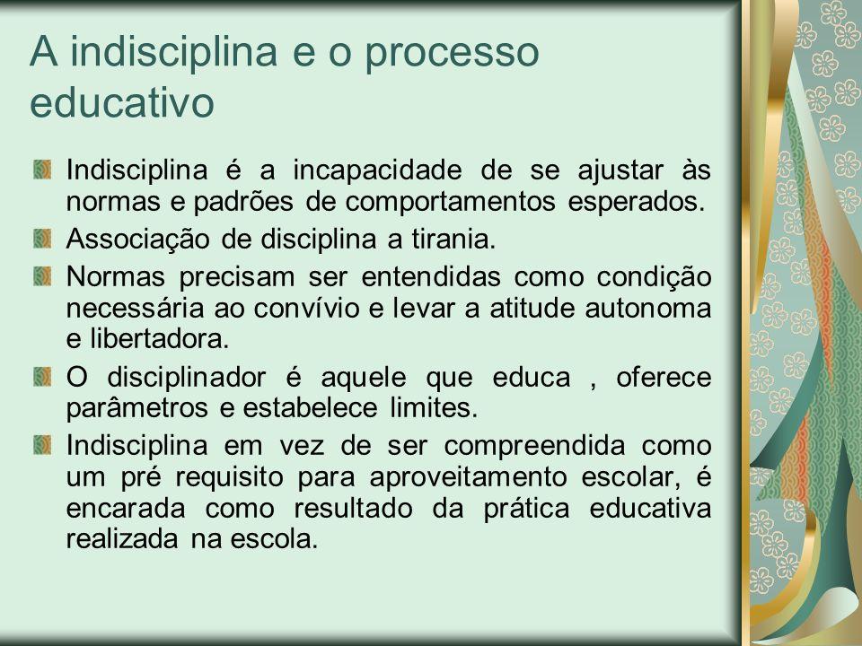 A indisciplina e o processo educativo