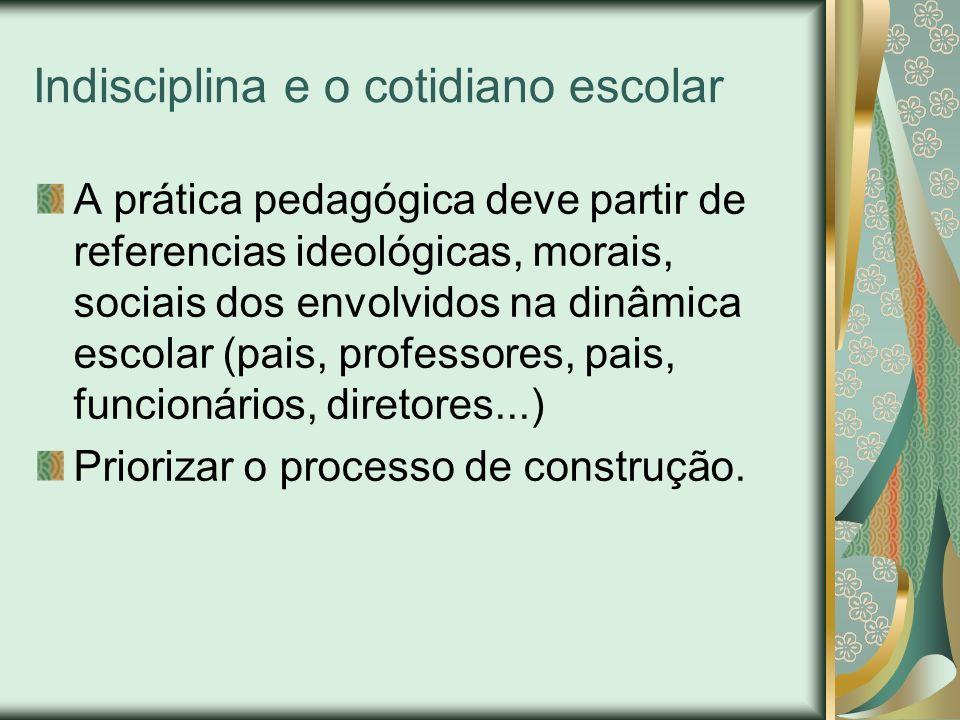 Indisciplina e o cotidiano escolar