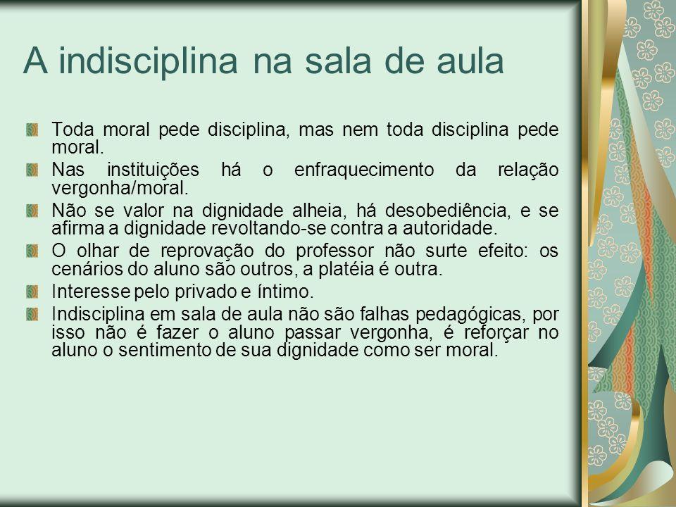 A indisciplina na sala de aula