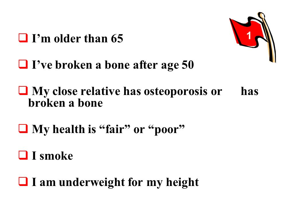 I've broken a bone after age 50