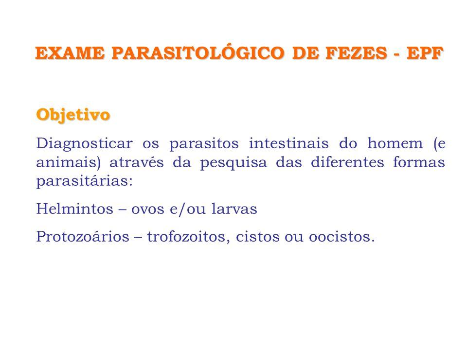 EXAME PARASITOLÓGICO DE FEZES - EPF