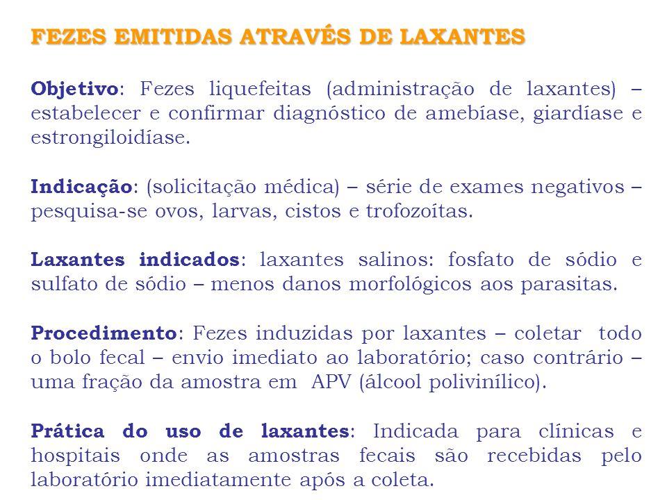 FEZES EMITIDAS ATRAVÉS DE LAXANTES