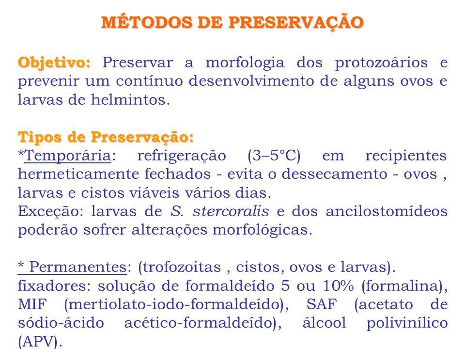 MÉTODOS DE PRESERVAÇÃO