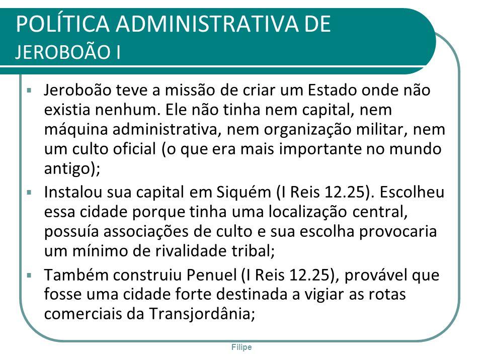 POLÍTICA ADMINISTRATIVA DE JEROBOÃO I