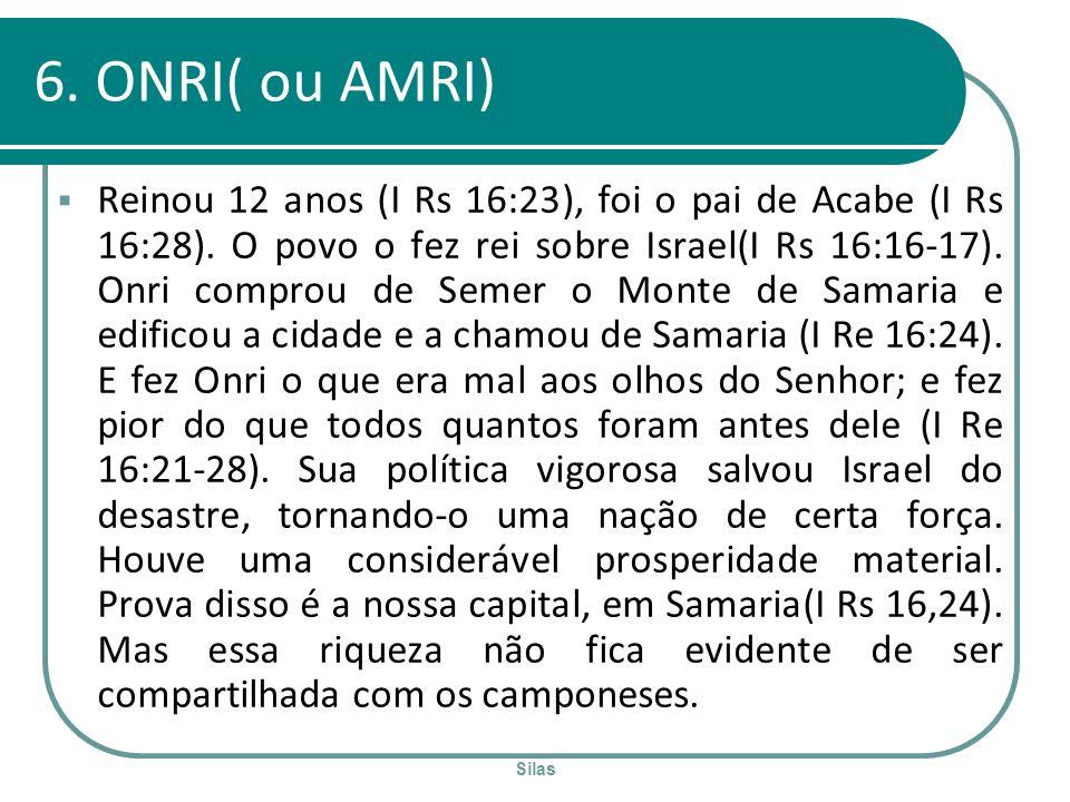 6. ONRI( ou AMRI)