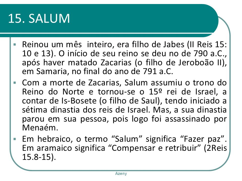 15. SALUM