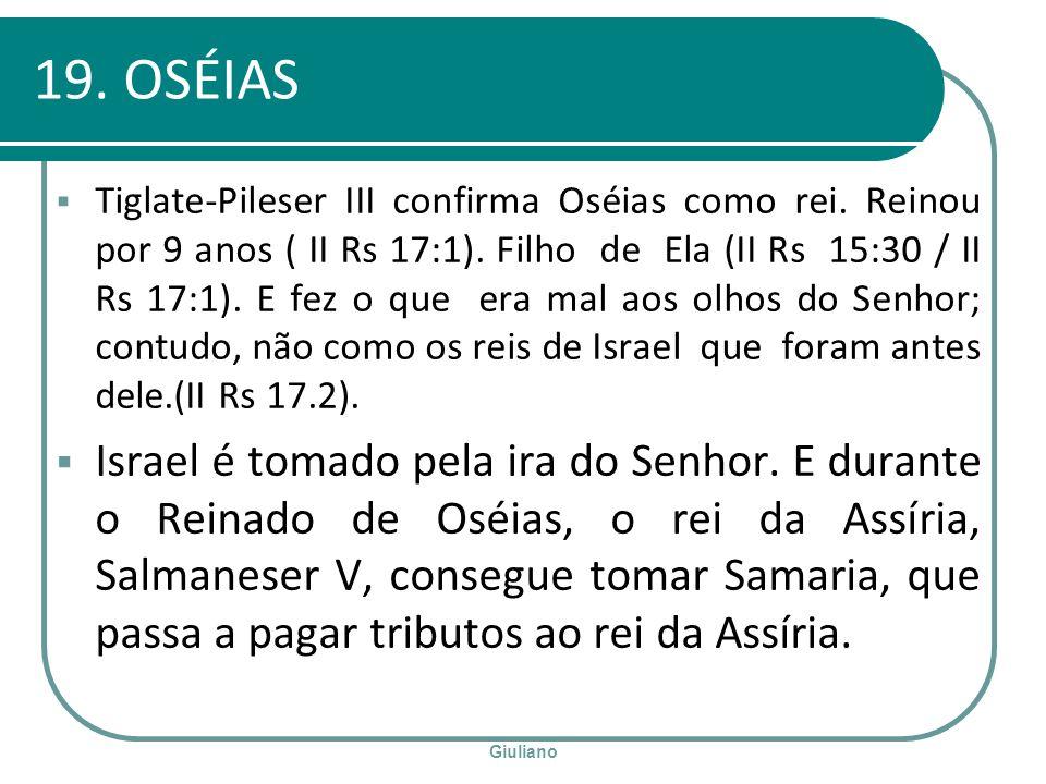 19. OSÉIAS