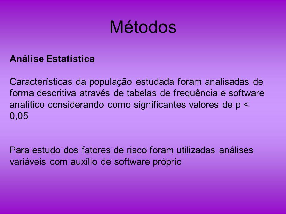 Métodos Análise Estatística