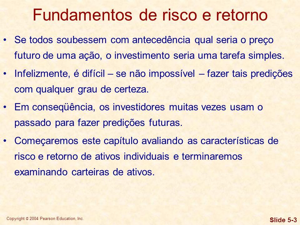 Fundamentos de risco e retorno